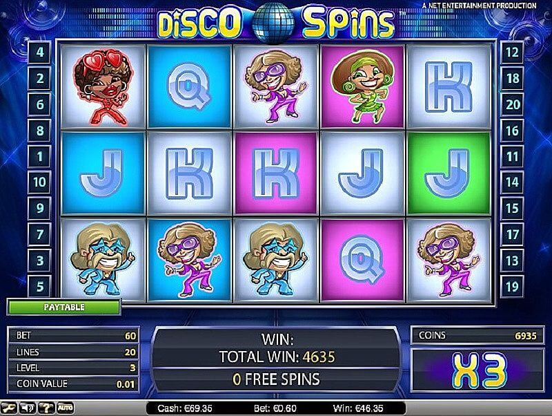 disco spins symbols